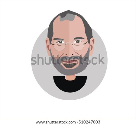 steve jobs vector illustration