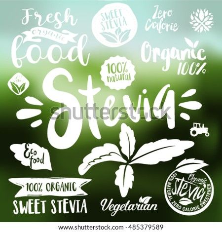 stevia and organic food label