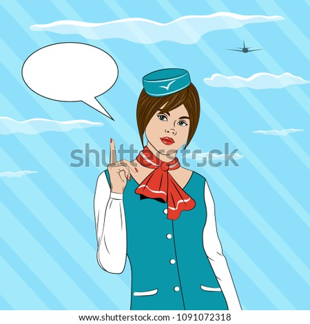 stewardess against the sky and