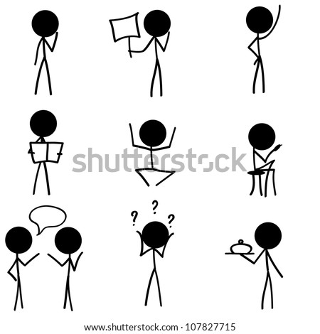 stick figure icons/symbol