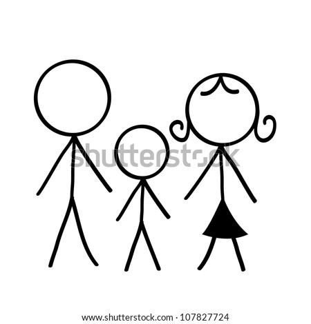 stick figure icons/symbol - family stick figure