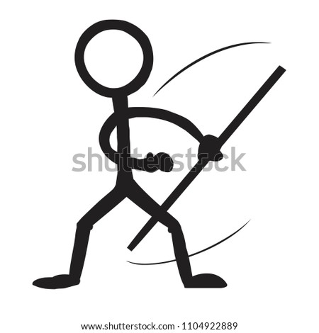 stick figure kung fu staff spin