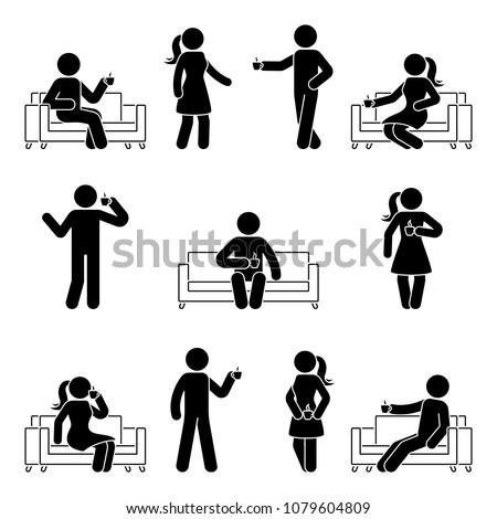 stick figure man and woman