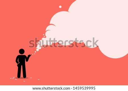 stick figure smoker smoking