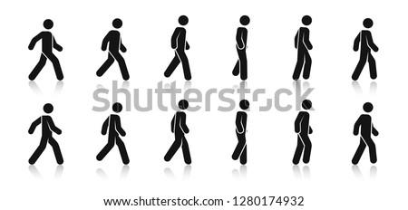 stick figure walk walking