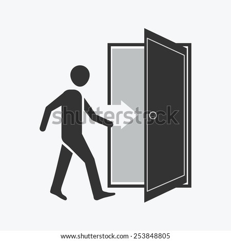 Open Door Icon Vector an Open Door Vector Icon