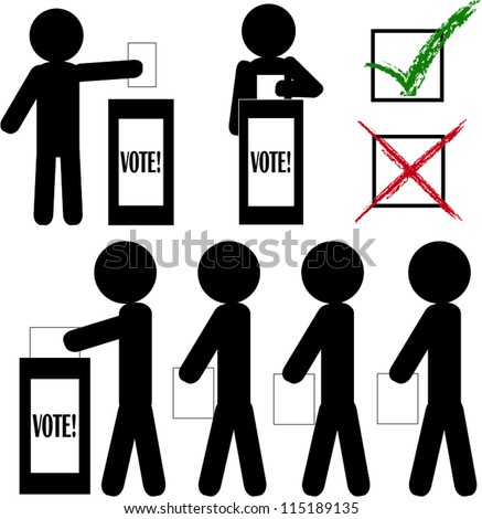 Stick man voting