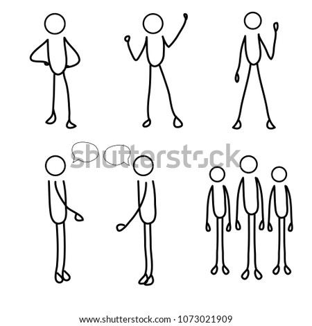 stick men, stick figures. stick people