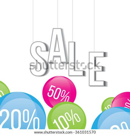 sticker banner with text sale