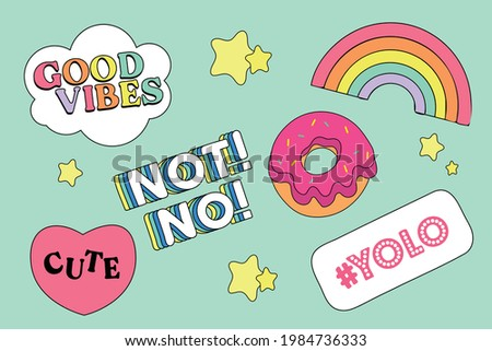 sticker, cute sticker vector design