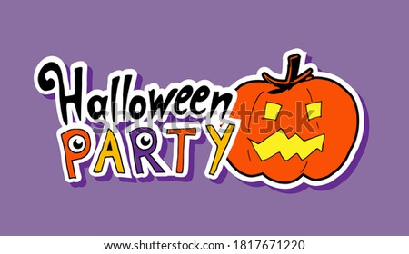 sticker for halloween party