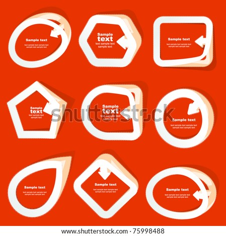 Sticker great collection. Vector template.