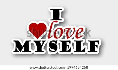 sticker i love myself  isolated