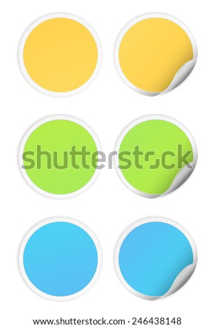 sticker icon design round  #246438148