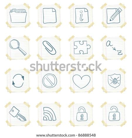 Sticker Icon Set Isolated on White Background. Vector EPS8.