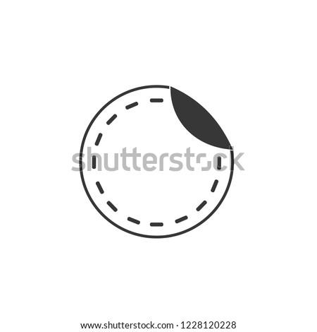 sticker icon. sticker sign
