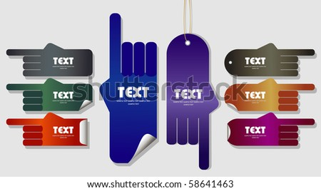 sticker in the form of  hands