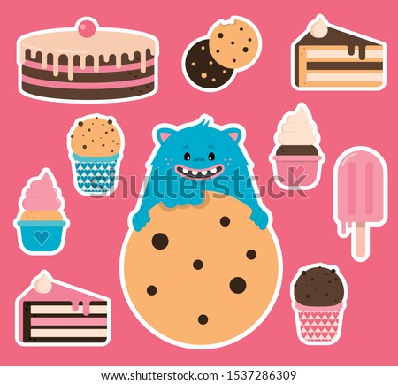 sticker pack with a cookie