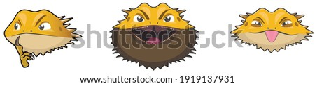 sticker pack with bearded dragon