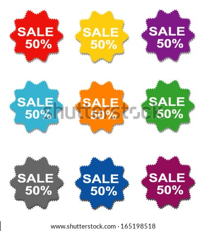 sticker price tag vector #165198518