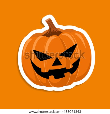 sticker pumpkin for the holiday
