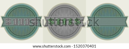 sticker round guilloche mesh