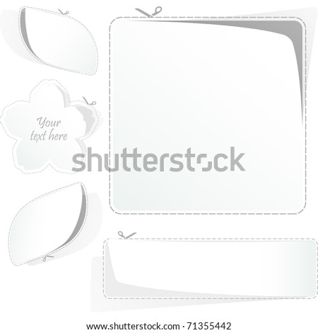 Sticker set. Vector templates for design.