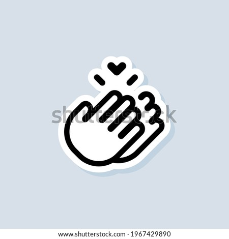 Sticker Thank you. Clapping Hands logo, icon. Vector.. Clap, applause icon. Vector on isolated background. EPS 10