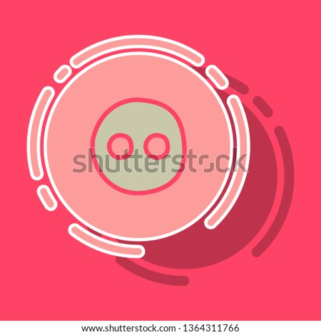 sticker unusual look web icon of modern social network . Flickr