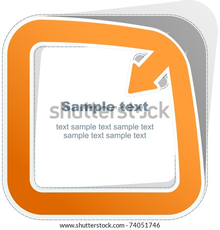 Sticker. Vector template.