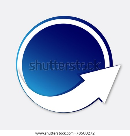 Sticker with arrow - Vector EPS10 - stock vector