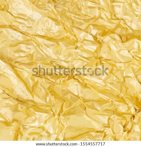 Sticker with gold dented foil background