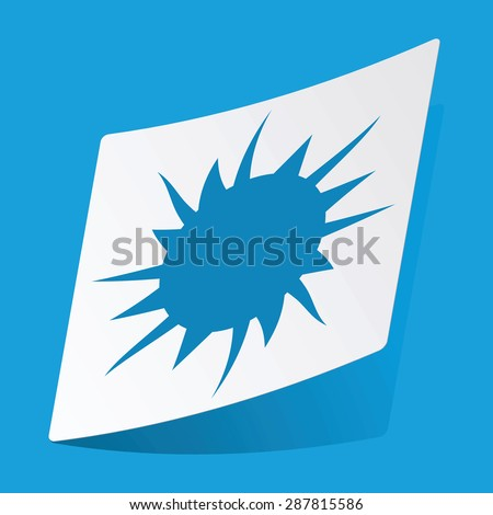 Sticker with starburst icon, isolated on blue Zdjęcia stock ©