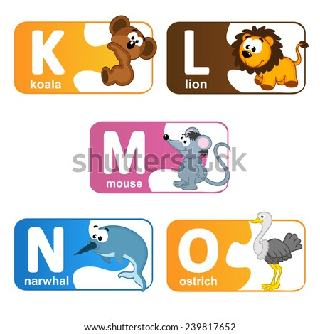 stickers alphabet animals from