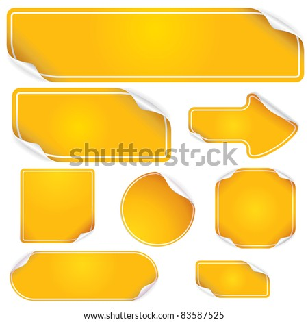 Stickers and Labels, blank vector templates for your text