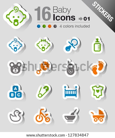Stickers - Baby icons