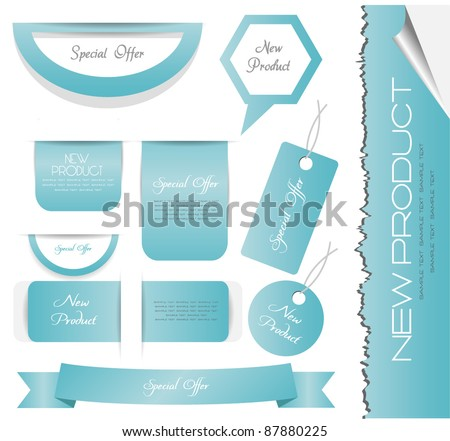 stickers.banner and labels - stock vector
