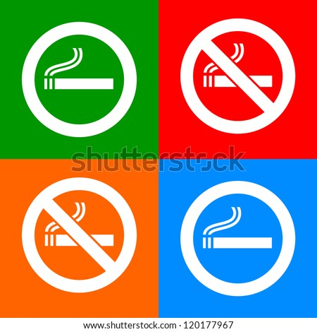 Stickers colorful - No smoking area labels