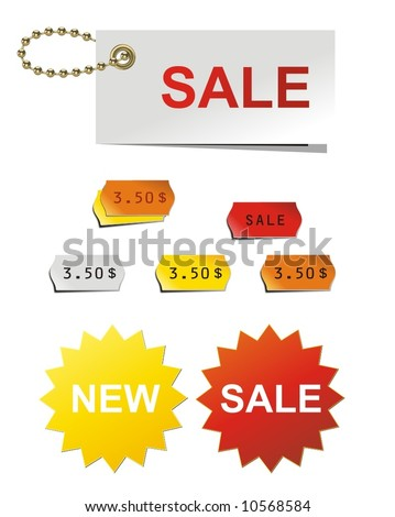 stickers for shop, new, sale, price, store