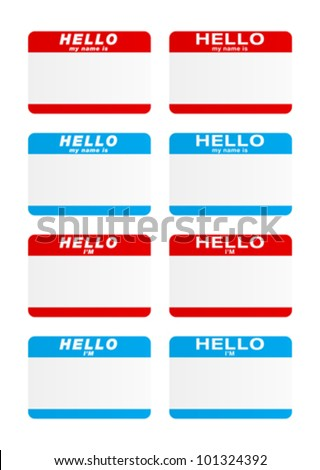 Stickers - Hello my name is
