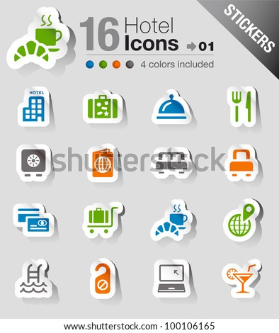 Stickers Hotel icons