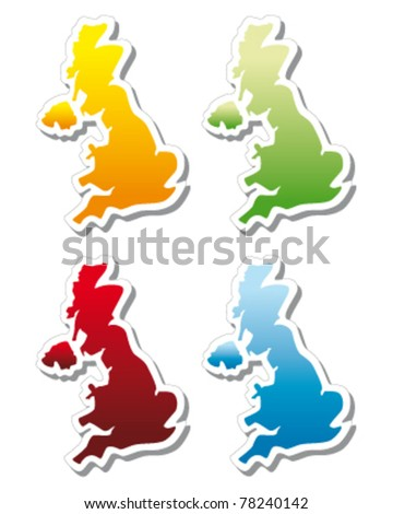 stickers in form of United Kingdom