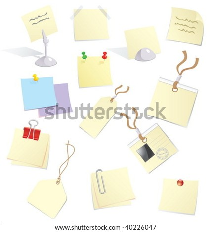 Stickers, notes and badges for office