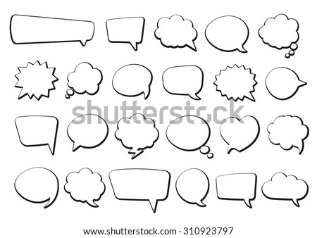 stickers of speech bubbles