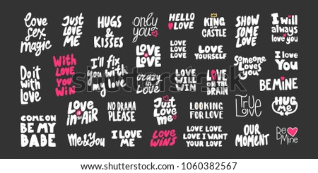 stickers set about love for