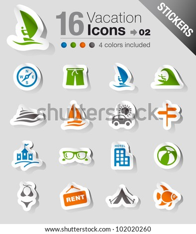 Stickers - Vacation icons