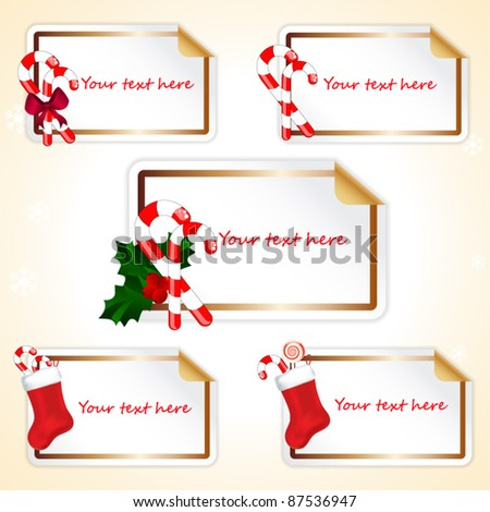 Stickers with Christmas decoration