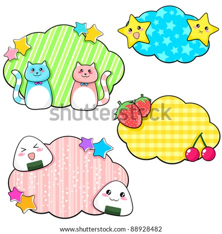 stickers with cute anime style