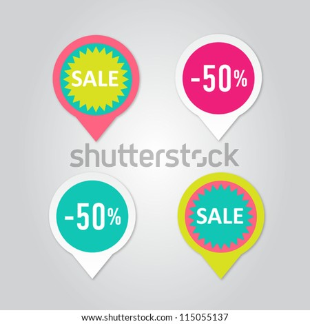Stickers with sale messages