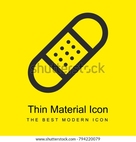 Sticking plaster bright yellow material minimal icon or logo design